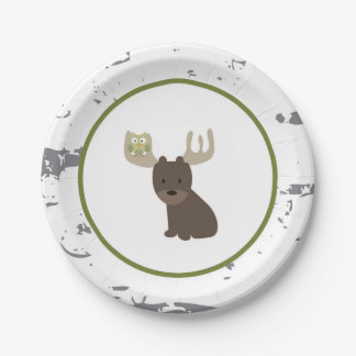Woodland Animal Paper Plates 7 Inch Paper Plate