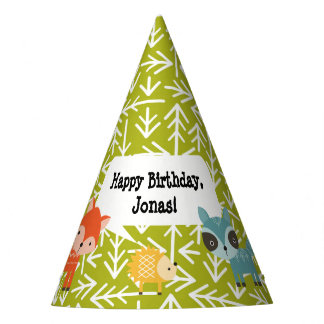 Woodland Animal Personalised Party Hats