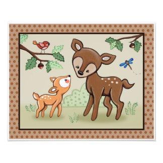 Woodland Animal Tales Nursery Art - Deer Photo Print