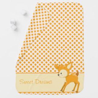 Woodland Animals | Baby Deer| Personalized Baby Blanket