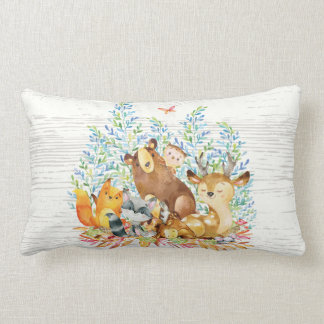 Woodland Animals Baby Nursery Pillow