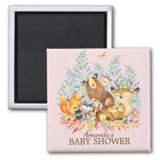 Woodland Animals Baby Shower Favor  Magnet