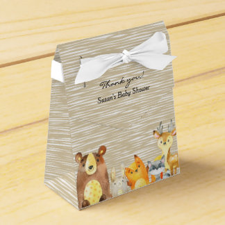Woodland Animals Baby Shower Favor Party Favour Box