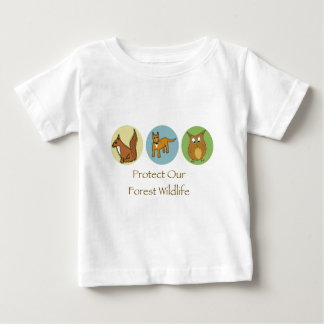 Woodland Animals Baby T-Shirt