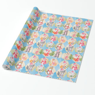 Woodland animals Christmas pattern Wrapping Paper