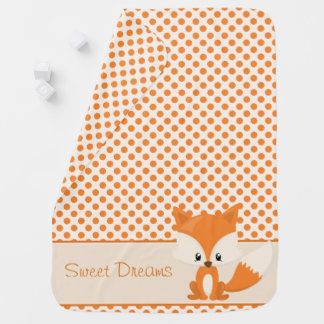 Woodland Animals | Cute Fox | Personalized Baby Blanket