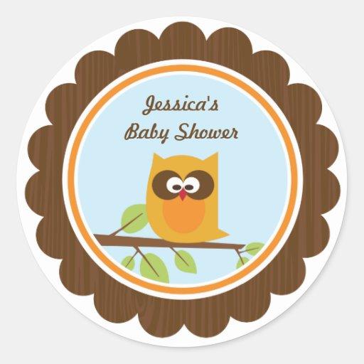 Woodland Animals Favor Bag Label Sticker