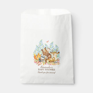 Woodland Animals Girls Baby Shower Favor Bags