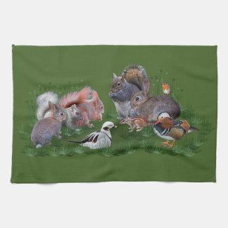 Woodland Animals Kitchen Towel