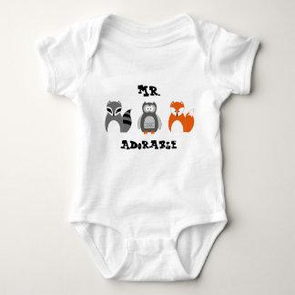 Woodland Animals Personalised Infant Onsie Baby Bodysuit