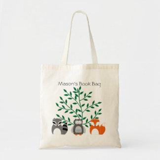 Woodland Animals Personalised Tote Bag