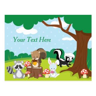 Woodland Animals | Personalized Postcard