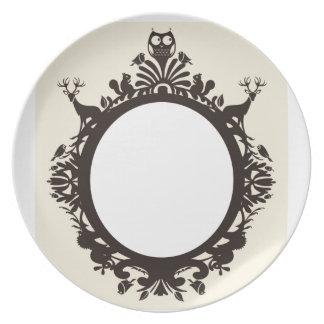 Woodland Animals Plate
