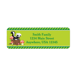 Woodland Animals Skunk | Personalized Return Address Label