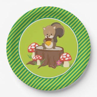 Woodland Animals | Squirrel 9 Inch Paper Plate
