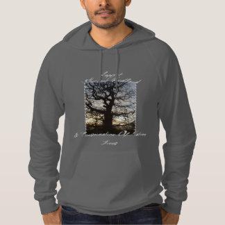 Woodland appreciation hoodie :Tree Silhouette