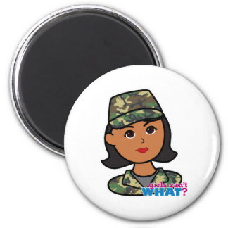 Woodland Army Camouflage 6 Cm Round Magnet