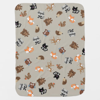 Woodland Baby Mash Up Blanket* Light Brown Baby Blanket