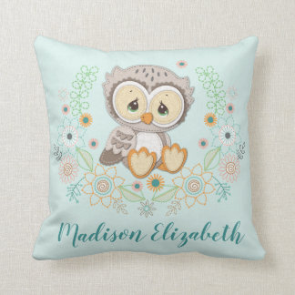 Woodland Baby Owl Design Cushion
