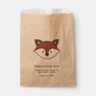 Woodland Baby Shower Cute Fox Favor Bag
