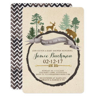 Woodland Baby Shower Invite