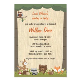 Woodland Baby Shower Invite *boy/girl/surprise*