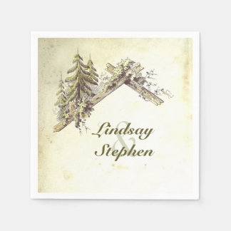 Woodland Barn Rustic Country Wedding Disposable Napkin