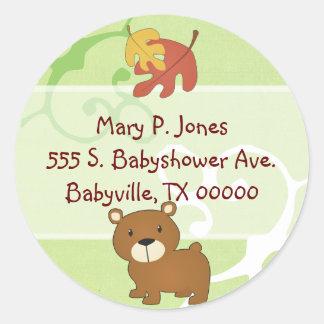Woodland Bear Address Label Stickers