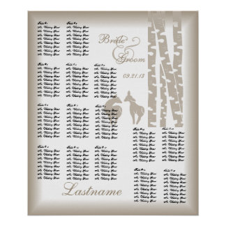 Woodland Birch Wedding Seating Chart