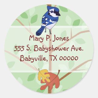 Woodland Blue Jay Address Label Stickers