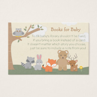 """Woodland """"Books for Baby"""" Business Card"""