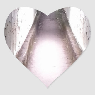 Woodland Bridge Heart Sticker