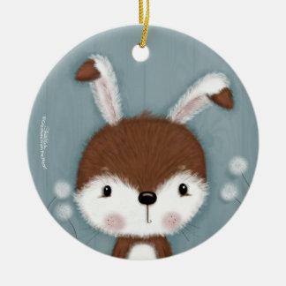 Woodland Bunny Portrait Christmas Ornament