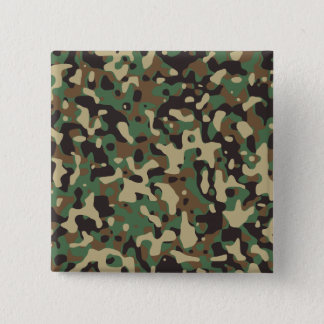 Woodland Camo 15 Cm Square Badge