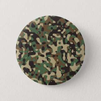 Woodland Camo 6 Cm Round Badge