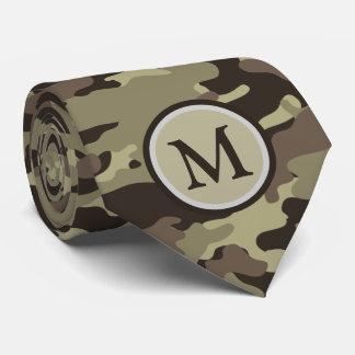 Woodland Camo Camouflage Pattern Monogram Tie