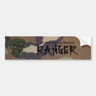 woodland camo, edited skull green no eyes, US T... Bumper Sticker