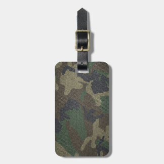 Woodland Camo Fabric Luggage Tag