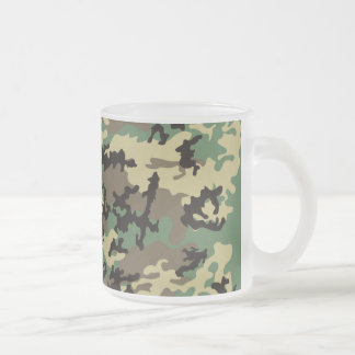 Woodland Camo Frosted Coffee Mug