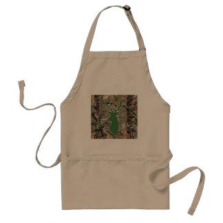 Woodland camo green deer head standard apron