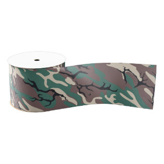 Woodland Camo Grosgrain Ribbon
