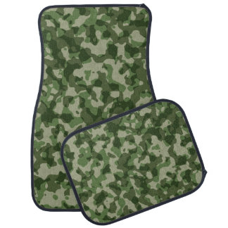Woodland Camo Pattern Front and Back Seat Floor Mat