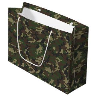 Woodland Camo Pattern WhimsicalArtwork™ Large Gift Bag