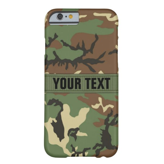 Woodland Camo Personalised Barely There iPhone 6 Case