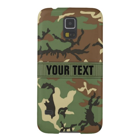 Woodland Camo Personalised Galaxy S5 Cases