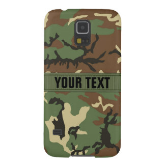 Woodland Camo Personalized Case For Galaxy S5
