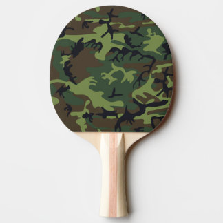 Woodland Camo Ping Pong Paddle
