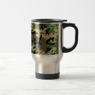 Woodland Camo Stainless Steel Travel Mug