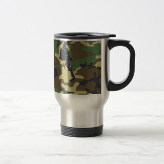 Woodland Camo Travel Mug