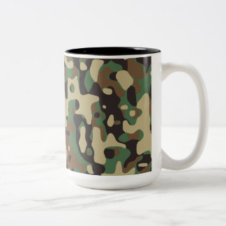 Woodland Camo Two-Tone Coffee Mug
